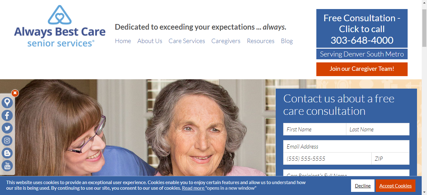 In Home Senior Care & Assisted Living in Denver South Metro, CO - Always Best Care